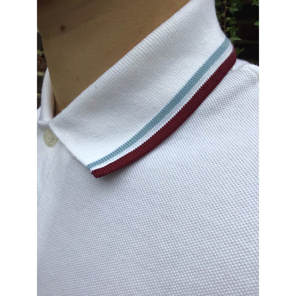 Fred Perry - Made in England M12 White/Ice/Maroon - Polo