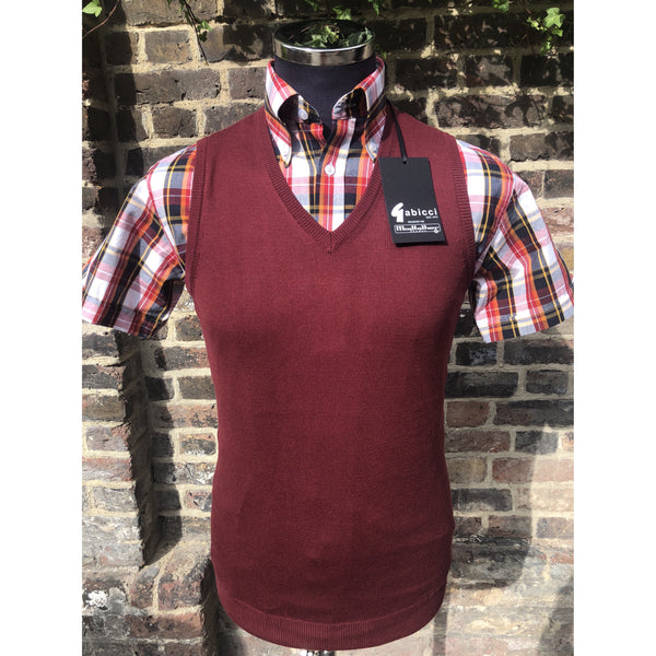 Modfather x Gabicci - Cabernet - Sleeveless Knit