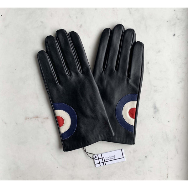 Frederick Sheppard - Men's Black Leather Mod Target - Gloves
