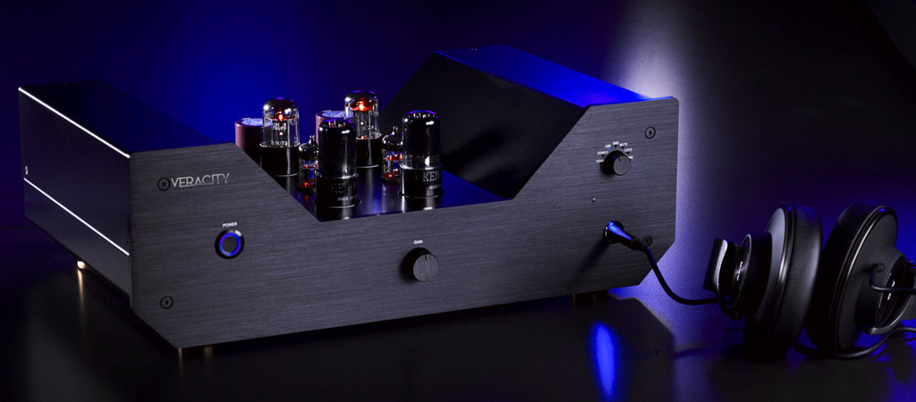 Veracity Audio- Mystra DAC, headphones connected