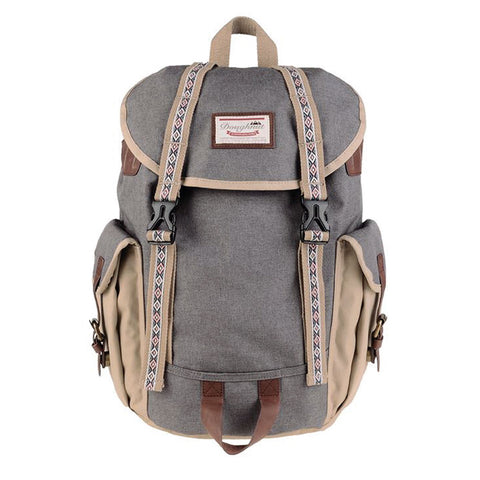 Doughnut Woodland Small Bo-he - Dark Grey x Beige
