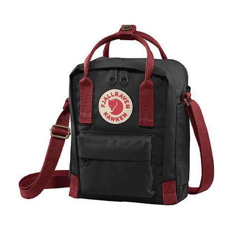 Fjallraven Kanken Sling - Black-Ox Red.