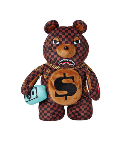 Sprayground - CHECKERED MONEYBEAR  (910B2785NSZ)