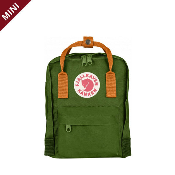 Kanken Mini - Leaf Green x Burnt Orange
