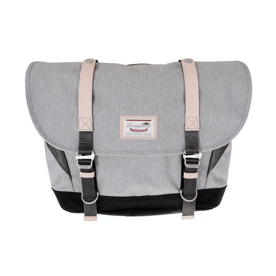 Doughnut Denver Messenger - Light Grey X Black