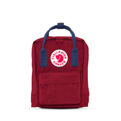Kanken Mini - Ox Red / Royal Blue