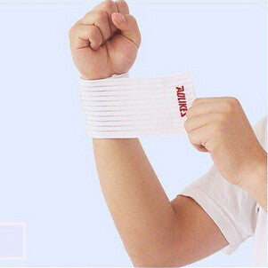 sport cotton elastic bandage hand sport wristband gym support wrist brace wrap fitness tennis polsini sweat band munhequeira