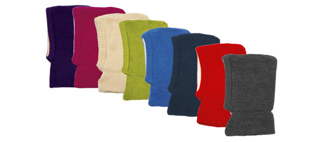 Thick Knitted Balaclava in Organic Merino Wool
