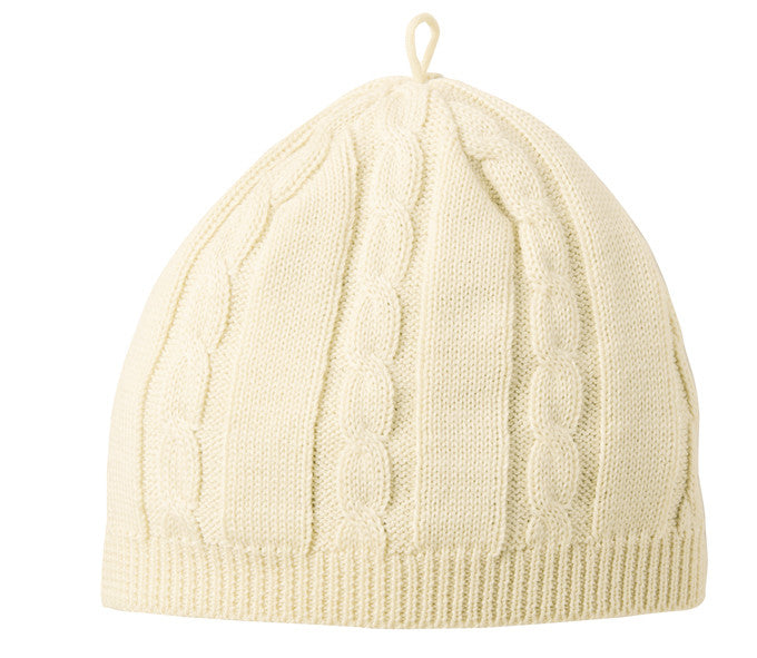 Disana Cable Knit Hat in Organic Cotton