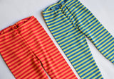 Striped Leggings in Organic Merino Wool / Silk