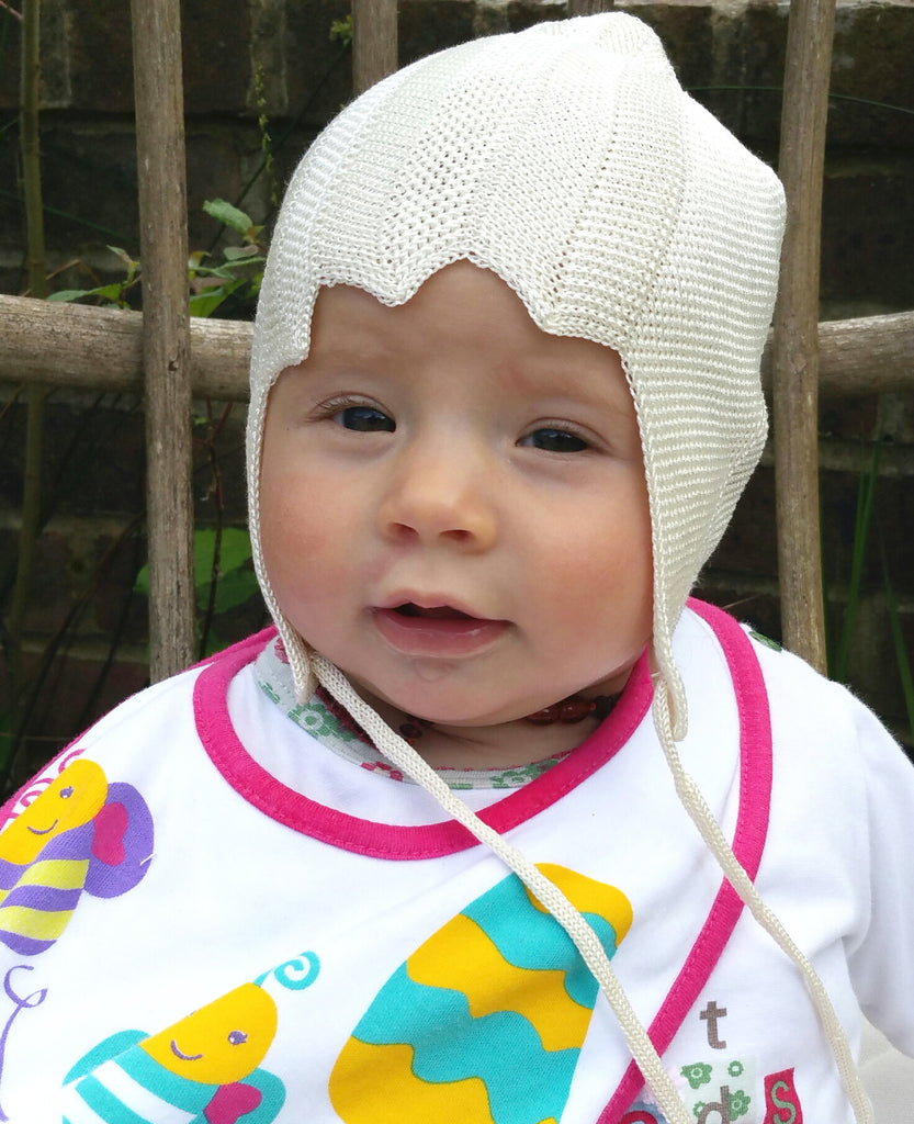 Baby Bonnet in 100% Organic Mulberry Silk