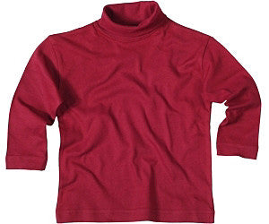 Roll-Neck Long Sleeved Organic Cotton Top by Living Crafts