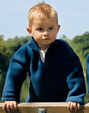 Engel 100% Organic Merino Wool Fleece Raglan Jumper with Zip