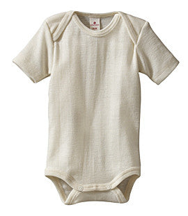 Short Sleeve Body with Crutch Poppers in Organic Cotton