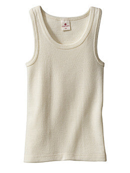 Sleeveless Children's Vest Base Layer in Organic Cotton