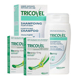 2 Pack Tricovel Tablets and 2 Shampoo + Free Comb