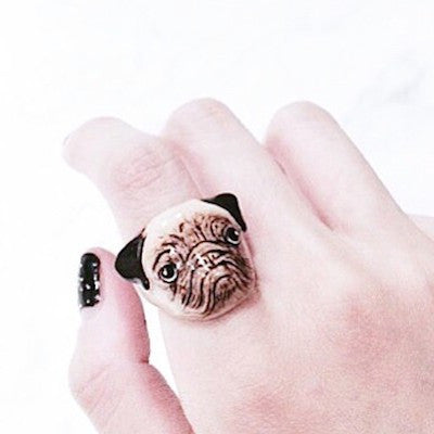 Good After Nine | ALAN Pug Dog Ring - lucylovesneko