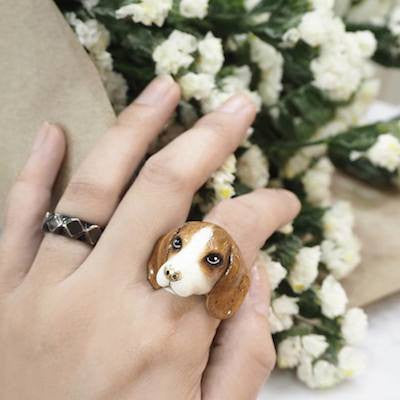 Good After Nine | PENNY Beagle Dog Ring - lucylovesneko