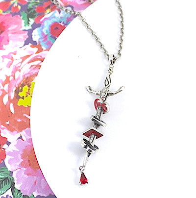 Disney Couture | Alice in Wonderland Queen of Hearts Sword Necklace - lucylovesneko - 1