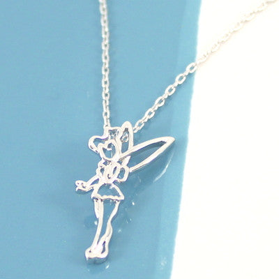 Disney Couture | Tinkerbell Fairy Outline Necklace - lucylovesneko