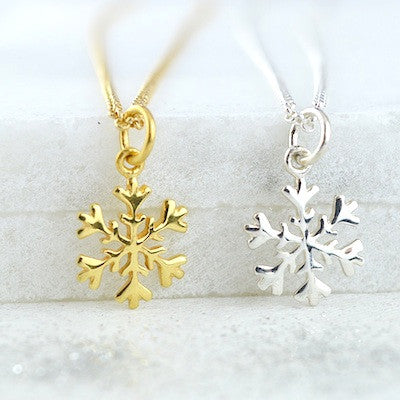 Lily Charmed Sterling Silver Frozen Snowflake Necklace - lucylovesneko