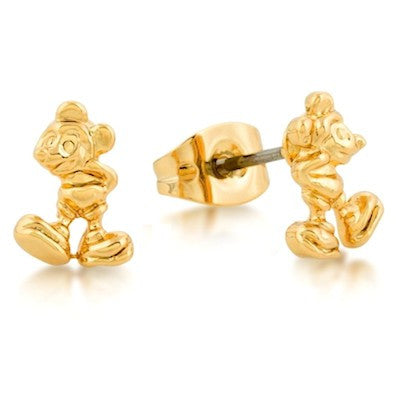 Disney Couture | Gold Little Standing Mickey Mouse Stud Earrings - lucylovesneko - 1