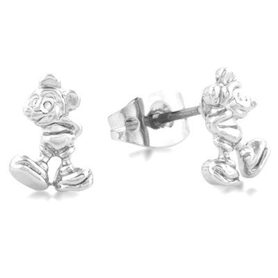 Disney Couture | Silver Little Standing Mickey Mouse Stud Earrings - lucylovesneko - 1