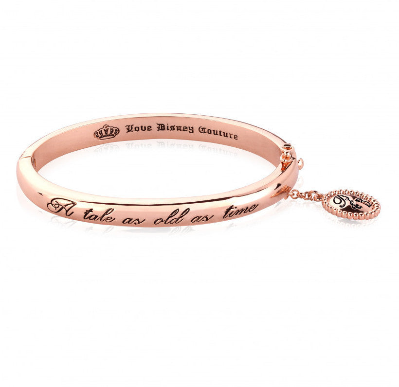 Disney Couture | Beauty & the Beast Rose Gold-Plated Tale as Old as Time Bracelet