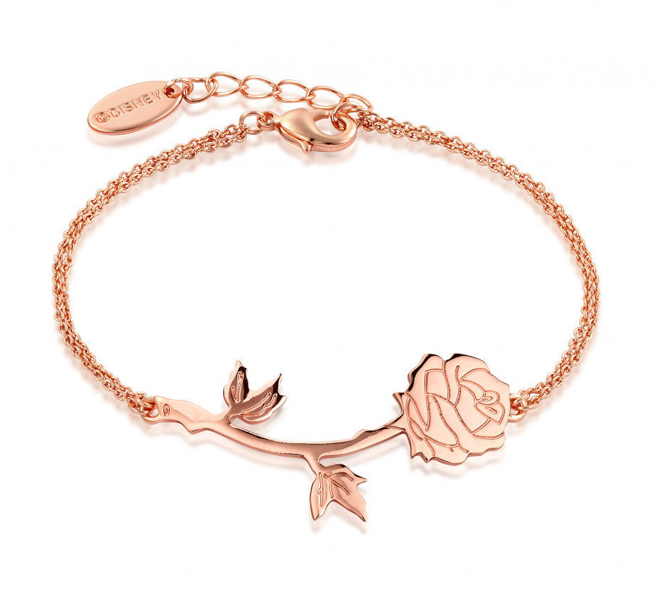 Disney Couture | Beauty & the Beast Rose Gold-Plated Enchanted Rose Bracelet
