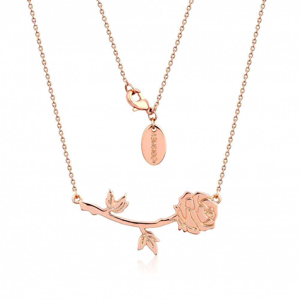 Disney Couture | Beauty & the Beast Rose Gold-Plated Belle's Rose Necklace
