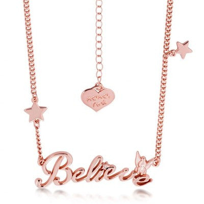 Disney Couture | Rose Gold Believe Message Necklace - lucylovesneko - 1