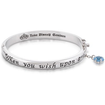 Disney Couture | Silver Wish Upon A Star Message Bracelet - lucylovesneko - 1