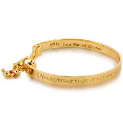 Disney Couture | Gold Winnie The Pooh Message Bracelet - lucylovesneko - 1