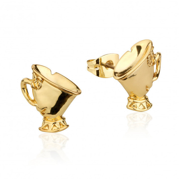 Disney Couture | Beauty & the Beast Gold-Plated Chip Tea Cup Stud Earrings