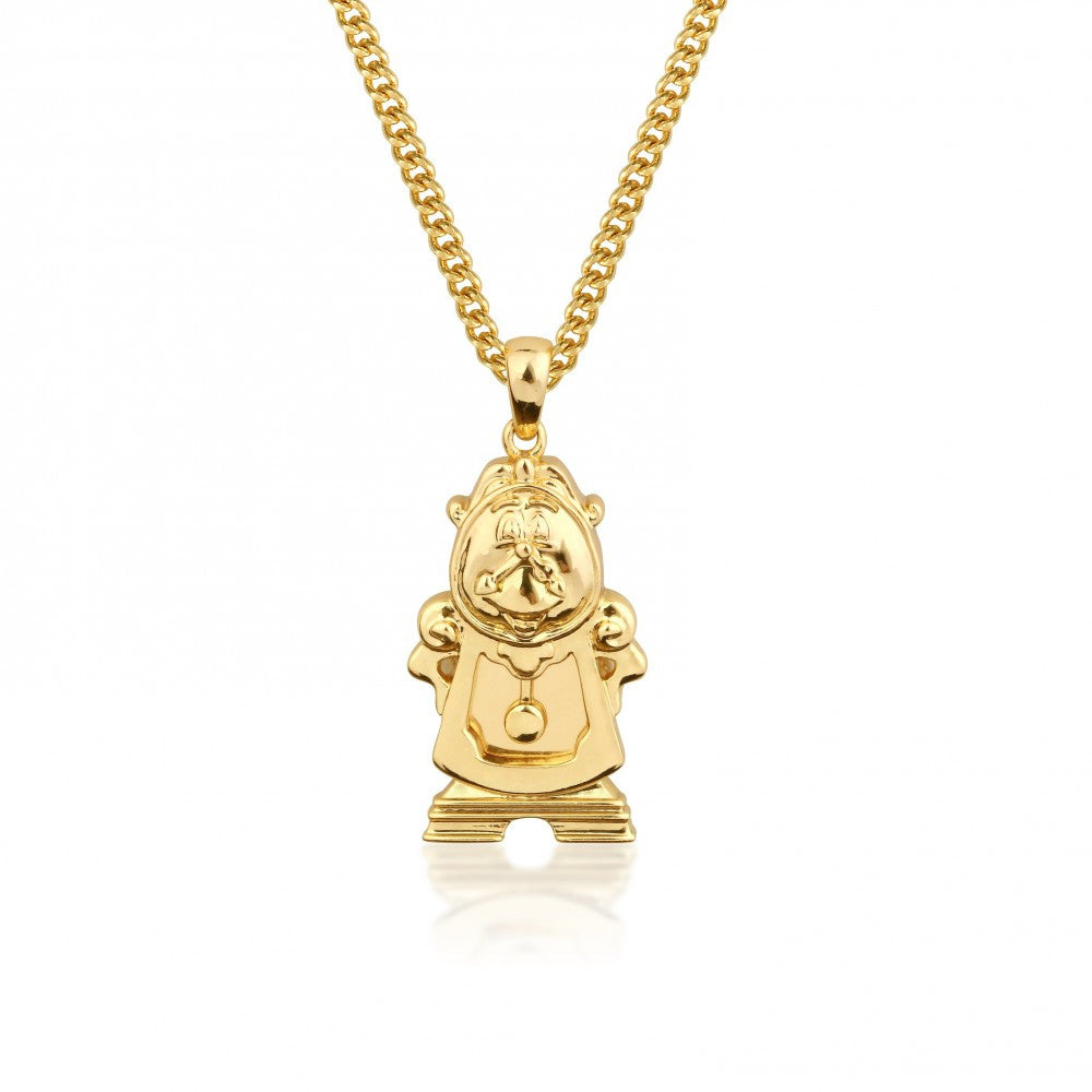 Disney Couture | Beauty & the Beast Gold-Plated Large Cogsworth Pendant Necklace