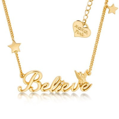 Disney Couture | Gold Believe Message Necklace - lucylovesneko - 1