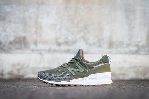 "New Balance 574 Sport ""Triumph Green with Covert"" MS574EMO"