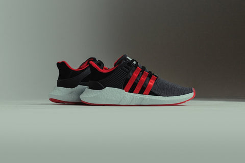 "Adidas EQT Support 93/17 Yuanxiao ""Carbon / Core Black / Scarlet"" DB2571"