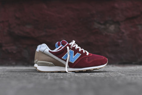 "Womens New Balance 696 Lakeview ""Red/Light Blue/Tan"""