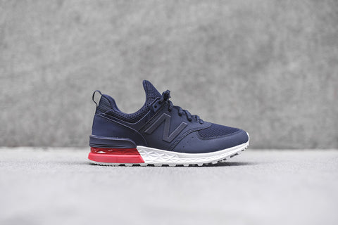 new balance 574 red navy