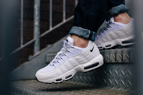 air max 95 white black black