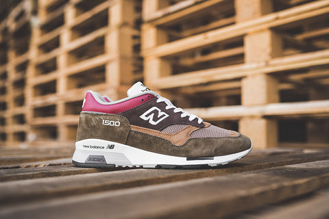 "New Balance 1500 Made in UK ""Brown with Beige & Red"" M1500GBG"