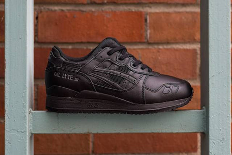 "Unisex Asics Gel Lyte III ""Pure Pack"" Triple Black"