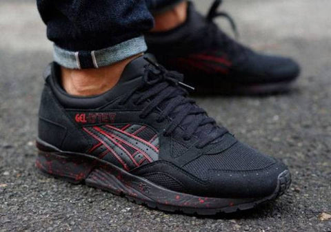 asics gel lyte v good evil black red speckle breds