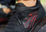 "Asics Gel Lyte V ""Good/Evil"" Black/Red Speckle BREDS"
