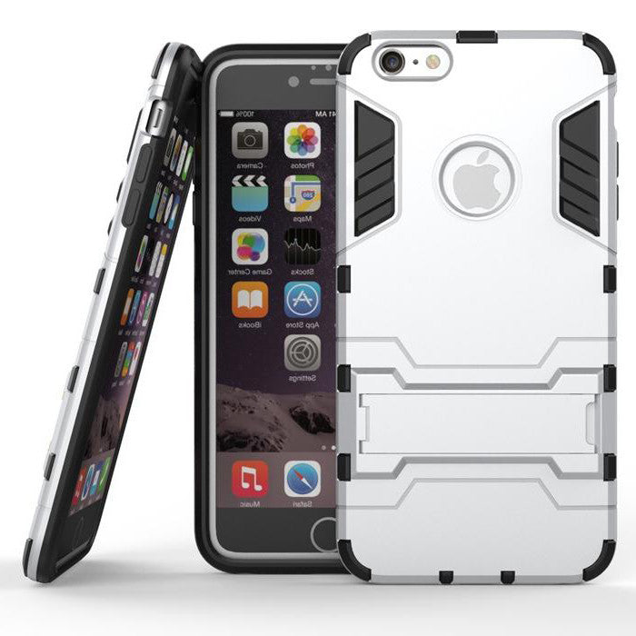 iPhone 6s 6 Plus Silver Tough Armor Protective Case - Mavasoap - 1
