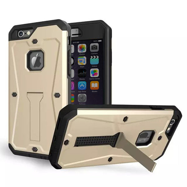 iPhone 6s 6 Plus Champagne Gold Tank Tough Armor Protective Case - Mavasoap - 1