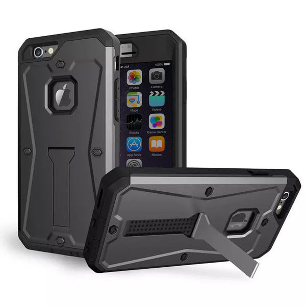 iPhone 6s 6 Plus Silver Tank Tough Armor Protective Case - Mavasoap - 5
