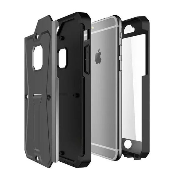 iPhone 6s 6 Plus Silver Tank Tough Armor Protective Case - Mavasoap - 2