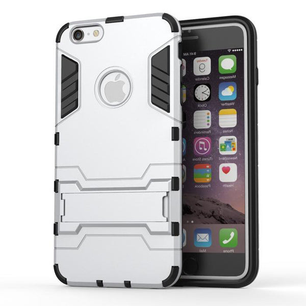 iPhone 6s 6 Plus Silver Tough Armor Protective Case - Mavasoap - 2